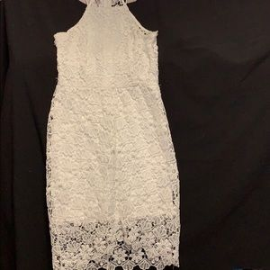 Charlotte Russe white lace dress in EUC